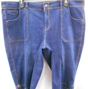 NWOT Gloria Vanderbilt Blue Jean Shorts -size 22w